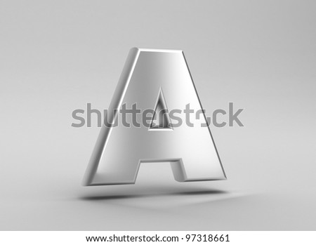 3d letter iron render on grey
