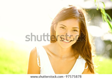 summer girl portrait asian