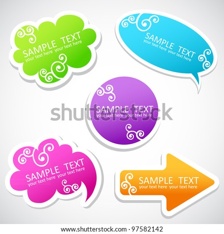 colorful speech balloons