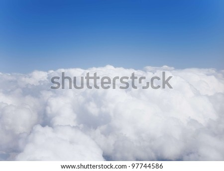 fluffy white cumulus clouds