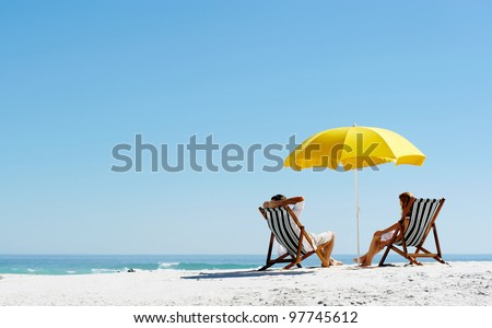 beach summer couple on island