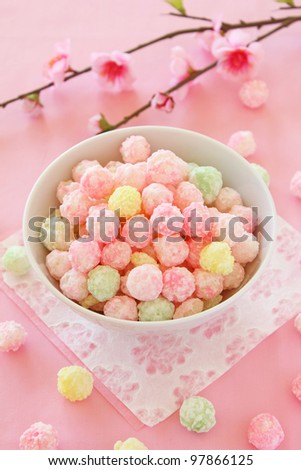 sweetened rice cakes for  dolls'