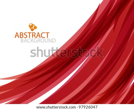 vector red wave