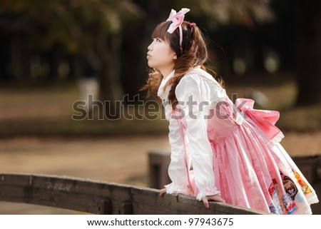 japanese girl in lolita cosplay