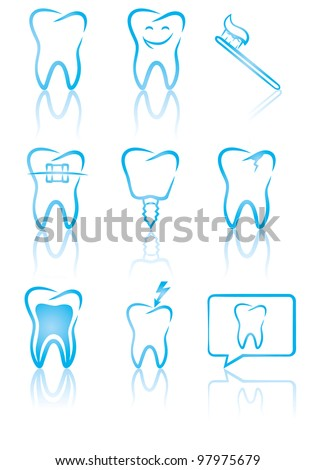 vector illustration of dental
