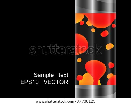 vector lava lamp eps10