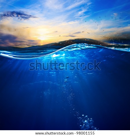 design template with underwater