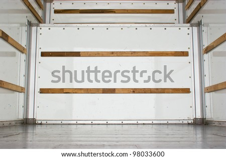 wide view of an empty cargo