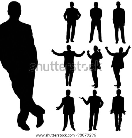 vector business man silhouette