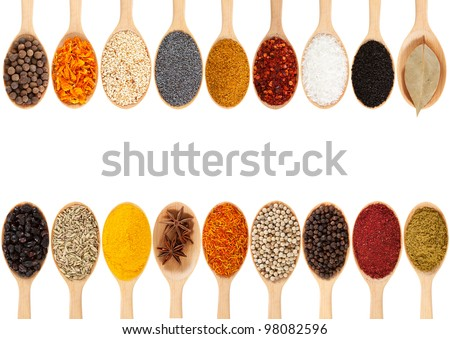 collection of 18 spices on a