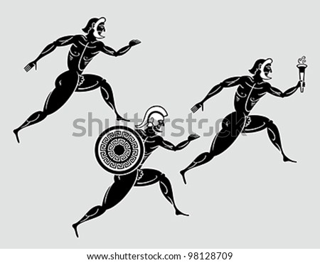 ancient greek sparta runners