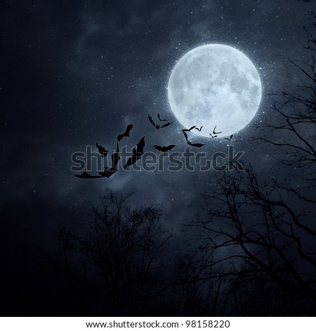 halloween background bats