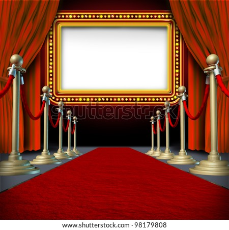 movie and theater marquee blank