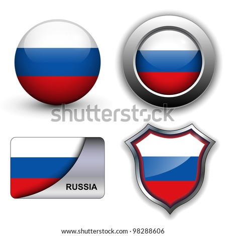 russia flag icons theme