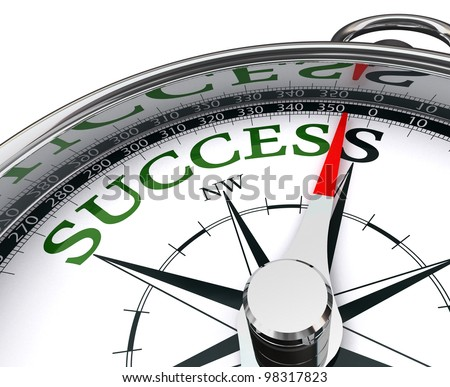 success green word indicated by