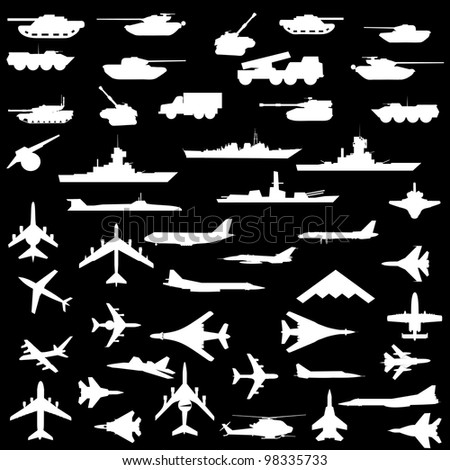 vector set of aircraft  armored