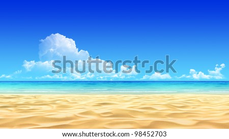 idyllic tropical sand beach