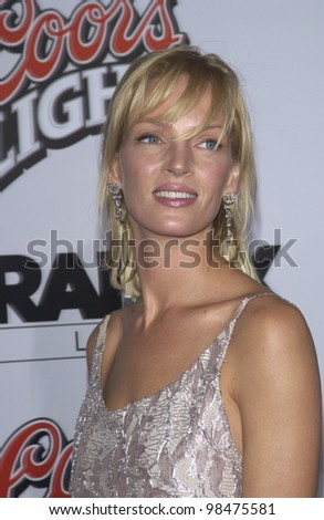 actress uma thurman at the los