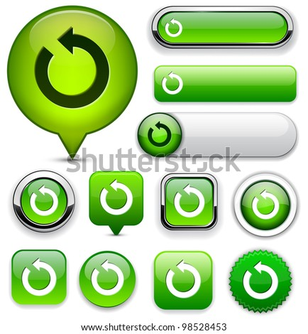 rotate green design elements