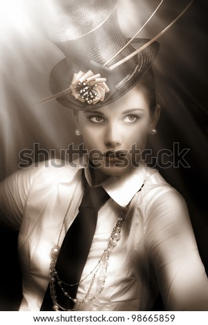 woman actress in vaudeville