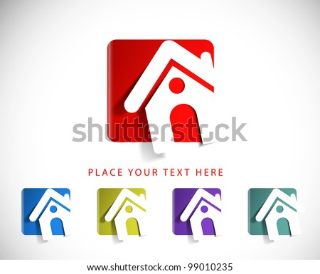 set of vector home icon design