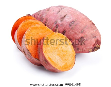 sweet potato with slices
