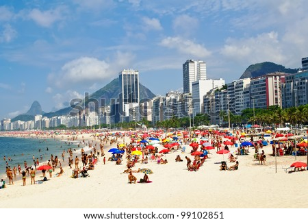 beach leme and copacabana in