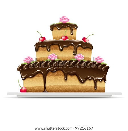 sweet chocolate cake for
