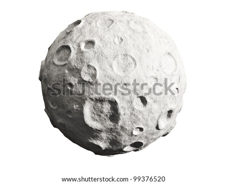 moon on a white background