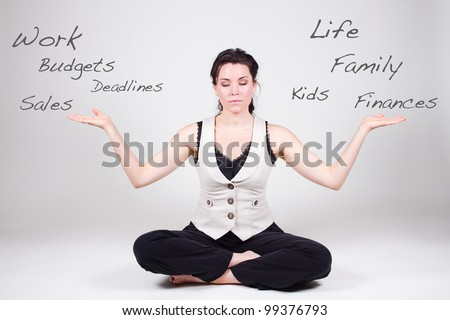woman balancing life and work
