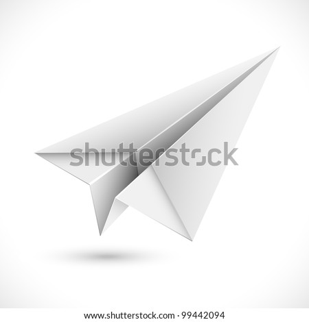 illustration of origami paper