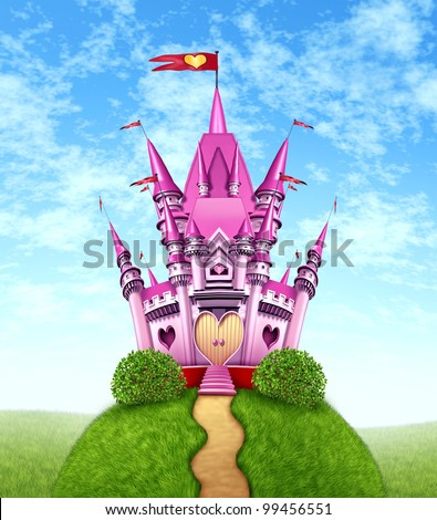 magical pink castle as a