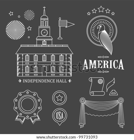 usa vector icons for