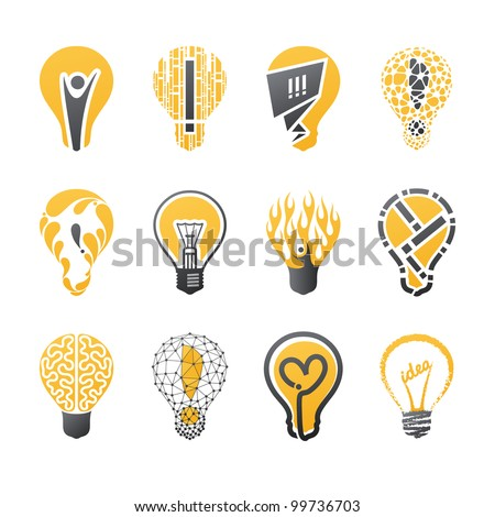 light bulb idea collection of