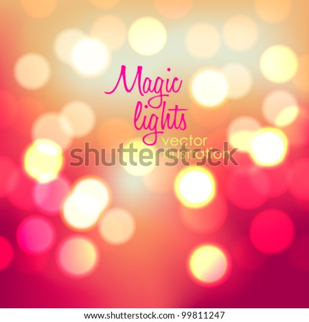 magic lights  bokeh blur