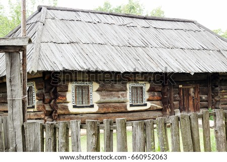 Old cottage house this picture taken stock photo 364221 shutterstock - Traditional polish houses wood mastership ...