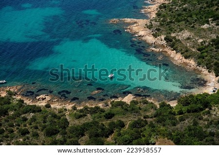 --aerial view of a beautiful bay in Sardinia-Italy