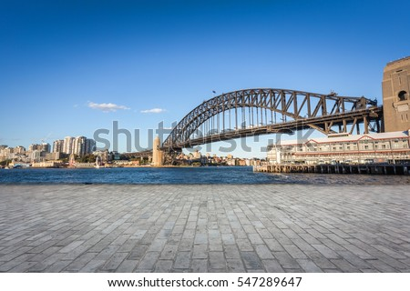 At noon, the city of Sydney, Australia