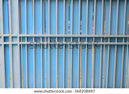 background and texture, Steel door sky blue background