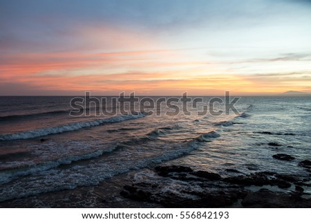 Beautiful sea and sunset
