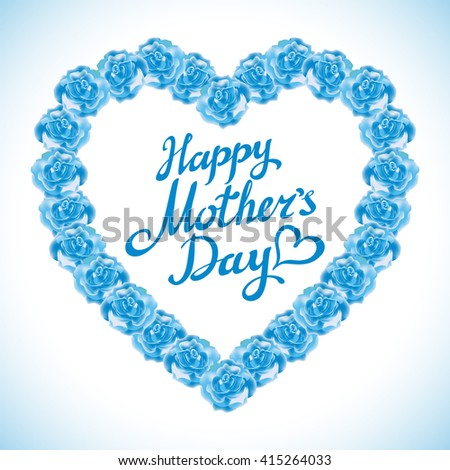 Decorative greeting card text happy valentines stock photo for How are blue roses made