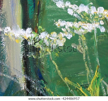 bright colorful background, fragment of painting in the style of impressionism
