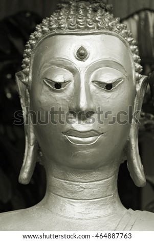 Buddha in the dark background