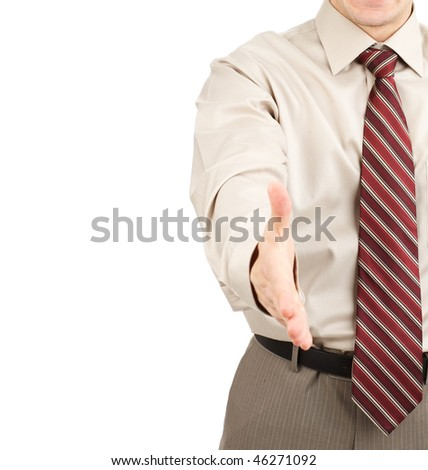 businessman. Isolated over  white background