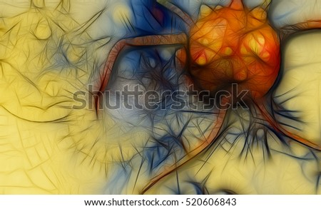 Cancer Cell in human body