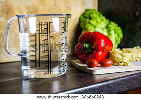 750ccm 34 Liter 750ml Water Measuring Stock Photo 366860240