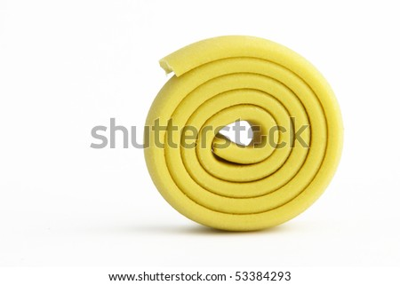 Chewing gum on white background