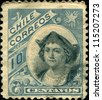 CHILE - CIRCA 1905:A stamp printed in the Chile shows Christopher Columbus, Cristobal Colon, Explorer, Colonizer, Navigator, circa 1905 - stock photo