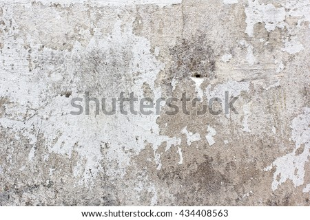 Old gray white concrete wall crumbling stock photo for Crumbling concrete floor
