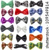 Collection set of colorful ribbon bows isolation on a white background - stock photo
